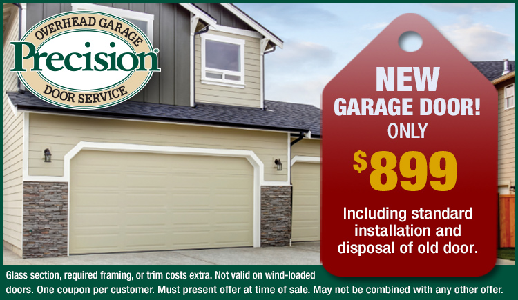 New garage door deal only $899
